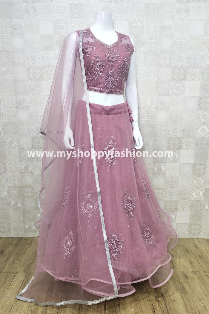 Pink Color Party Wear Lehenga Choli With Dupatta