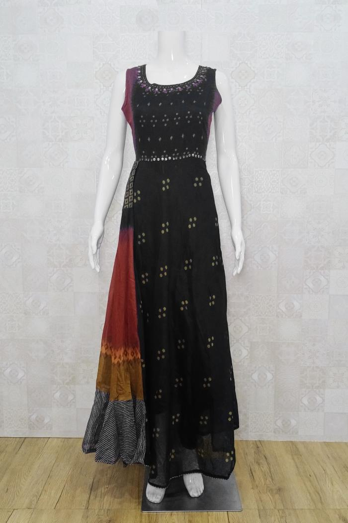 Black Color Party Wear Gown Kurti